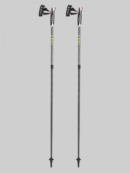 Leki Nordic Walking Spin 100-130 cm Stocklänge - grau/gelb