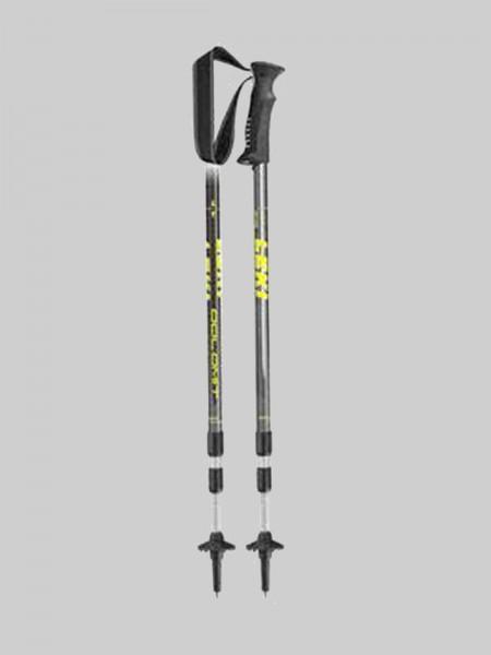 Leki Treckingsstock - Dolomit - 67-135 cm - anthrazit/schwarz-gelb-weiß