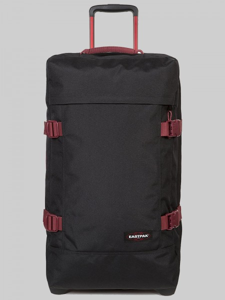 EASTPAK Trolley Koffer TRANVERZ L EK63 Black-Red 121L mit TSA Schloss