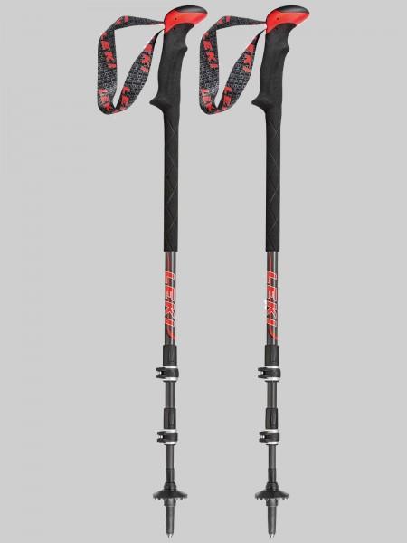 Leki Treckingsstock Carbon TiSystem - schwarz/grau/rot