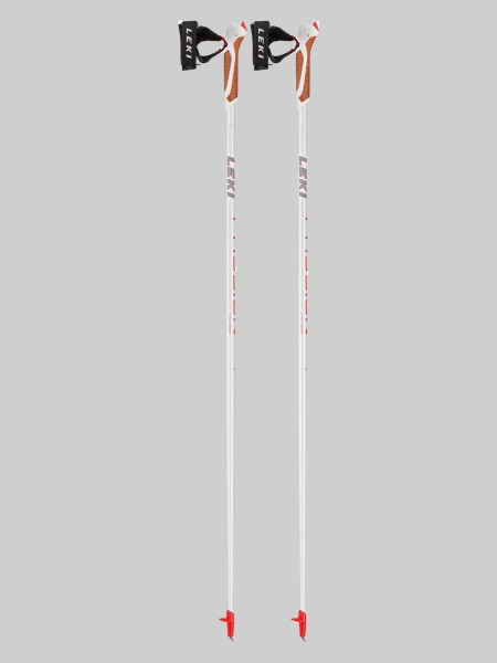 Leki Nordic Walking Passion - weiß/orange/grau