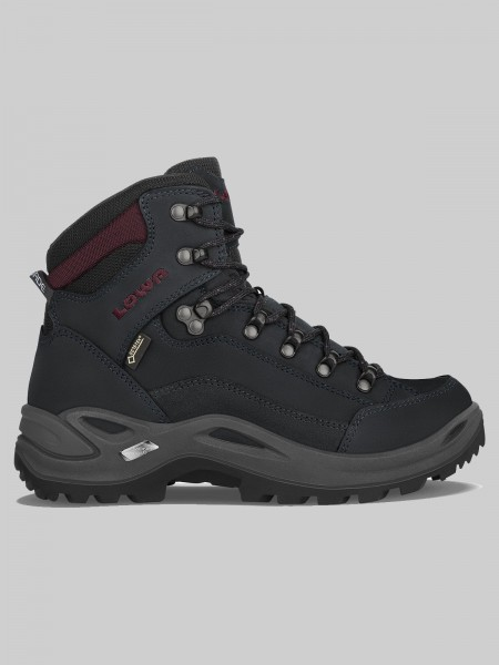 LOWA Damen Outdoorschuh Renegade GTX MID - schwarz/bordaux