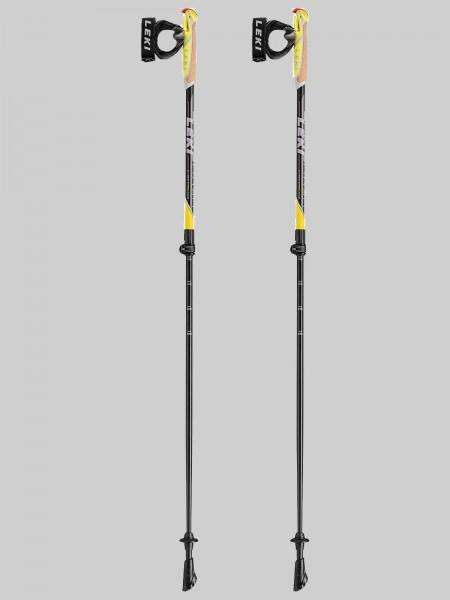 Leki Nordic Walking Spin Shark SL 100-130 cm Stocklänge - schwarz/gelb/weiß