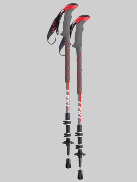 Leki Treckingsstock Thermolite XL Speed-Lock 2 - grau/rot