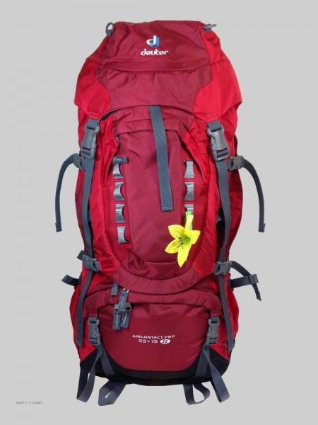 Deuter Damen Trekking Rucksack Aircontact Pro 55 + 15 SL - cranberry/fire 70L