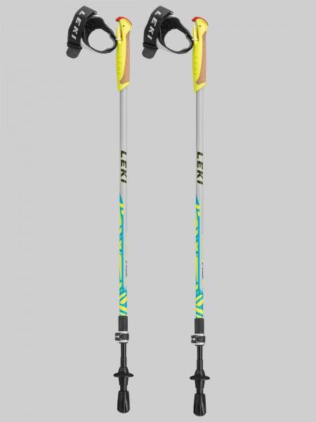 Leki Kinder Nordic Walking Walker XS grau/blau/gelb