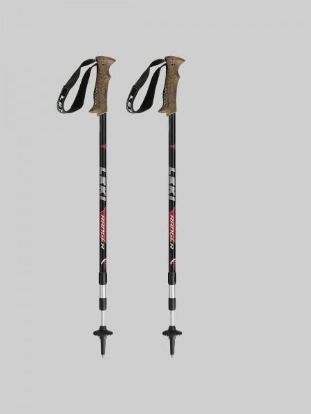 Leki Treckingsstock Ranger AS - schwarz/silber/rot