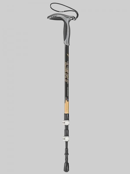 Leki Wanderstock / Wanderfreund mit Speed-Lock SL2 - schwarz/gold