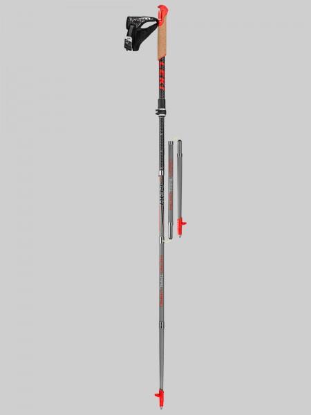 Leki Nordic Walking Micro Trail Vario 115-130 cm Stocklänge - schwarz/grau/gelb